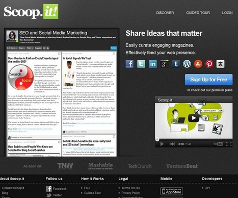 Top 10 tools for content curation 2012 | 21st Century Tools for Teaching-People and Learners | Scoop.it