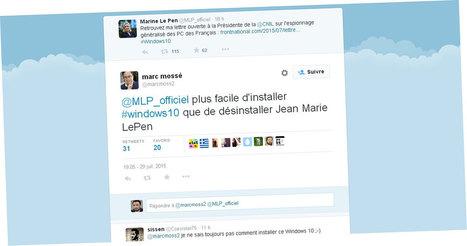 Un haut cadre de Microsoft France trolle Marine Le Pen après sa critique de Windows 10 - Le Lab Europe 1 | Actualité de la politique française | Scoop.it