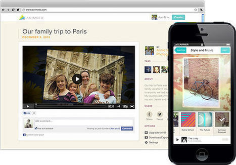 Animoto - Make & Share Beautiful Videos Online | Web 2.0 Tools | Scoop.it