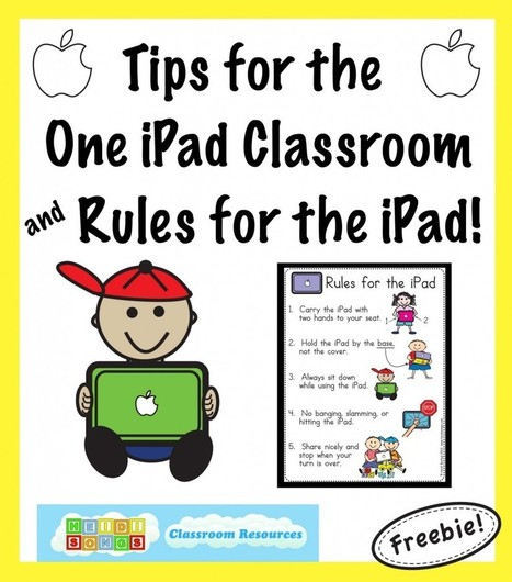 Tips for the One iPad Classroom, and a Free iPad Rules Download! | Heidi Songs | Personal Learning Devices in School | Scoop.it
