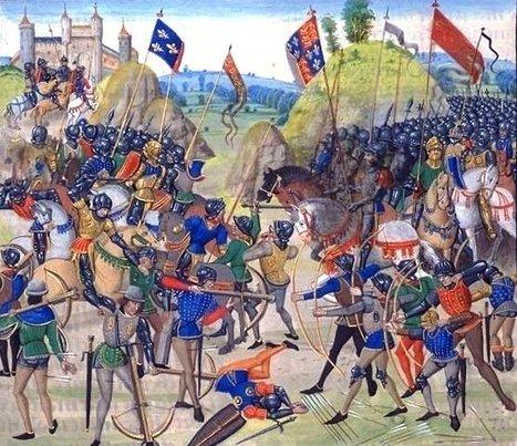 File:Battle of crecy froissart.jpg - Wikimedia Commons | mis cositas de sociales | Scoop.it