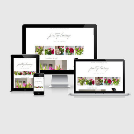 SALE!! Responsive Blogger Template - Pretty Living - Premade Blogger Template - Blogger Theme - Blogspot Template - Instant Download | Blogger themes | Scoop.it