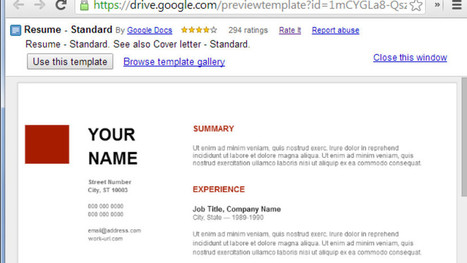 Use Google Docs' Resume Templates for a Free, Good-Looking Resume | JOB SEARCH SKILLS | Scoop.it