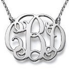 Sterling Silver Fancy Monogram Necklace – Custom Made with Any Initial!   aePiots   Scoop.it