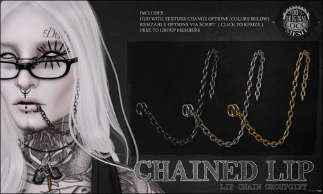 Chained Lip Group Gift by Le Morte | Teleport Hub - Second Life Freebies | Second Life Freebies | Scoop.it
