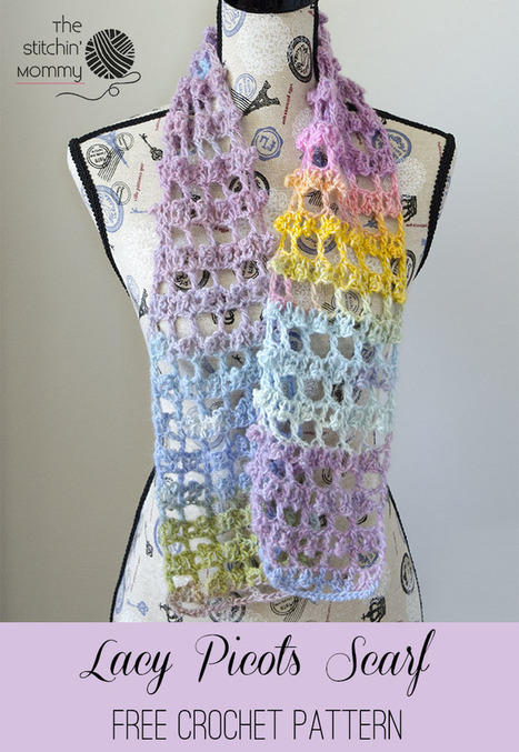Lacy Picots Scarf - Free Crochet Pattern - The Stitchin Mommy | Crochet Patterns and Tutorials | Scoop.it