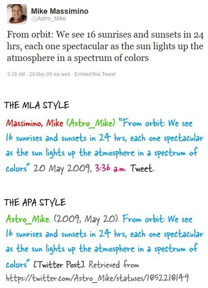 The Proper Way to Cite Tweets in your Paper | Library Media | Scoop.it