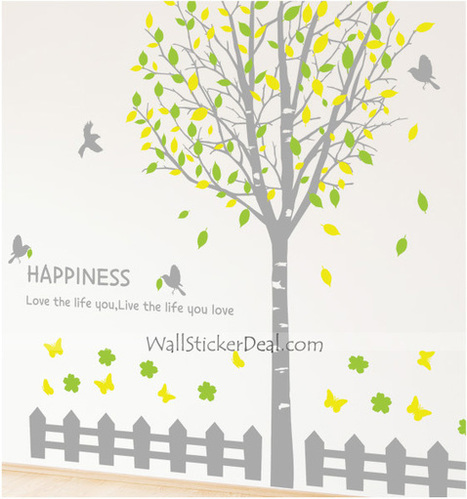 Beautiful Tree And Butterfly Flowers Wall Sticker – WallStickerDeal.com   Tree Wall Stickers   Scoop.it