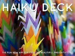 Haiku Deck on the Web Might Make You Forget About All Other Slideshow Tools ~ Free Technology for Teachers | Creative Commons Kaleidoscope | Scoop.it