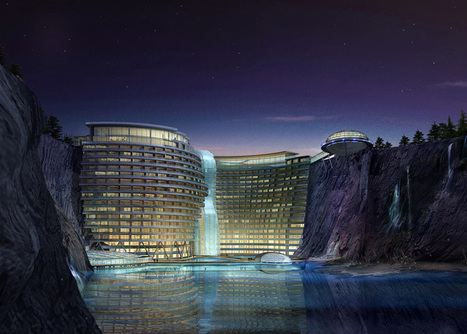 China's Sustainable Cave Hotel Under Construction | Geography Education | Scoop.it