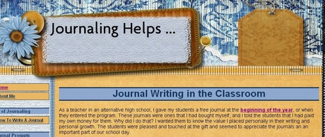 Journal Writing in the Classroom | Journaling Helps! | Scoop.it