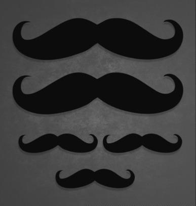 Set Of 5 #Mustache Stickers #KCCO Decals - KCCOdecals.com | KCCO | Scoop.it