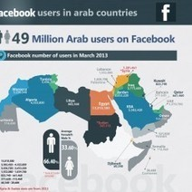 Facebook Users in Arab World 2013 | Visual.ly | Demographics and Penetration | Scoop.it