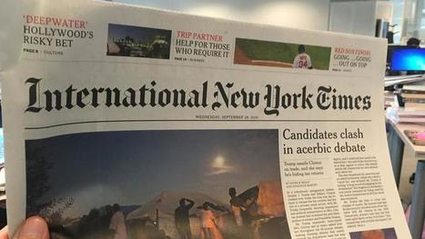 L'International New York Times quitte Paris | DocPresseESJ | Scoop.it