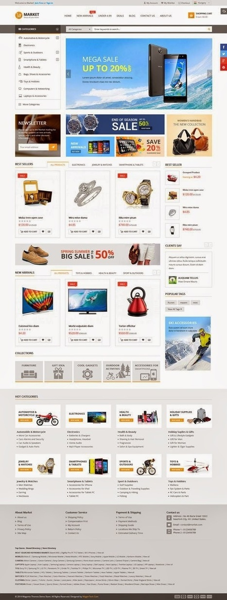 12 Awesomely Design Best Responsive Magento Themes 2015 - Download New Themes | Technology and Marketing | Scoop.it