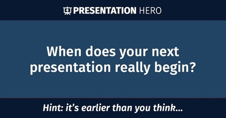 When does your next presentation really begin? | Are you a Global Citizen? | Scoop.it