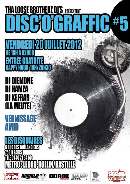 Disc'o Graffic #5 // 20 juillet 2012 | Expositions • Exhibitions | Scoop.it
