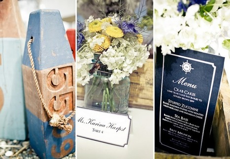 Seaside Inspiration: Ideas of a Nautical Wedding | Chancey Charm ... | All About Beach Weddings | Scoop.it