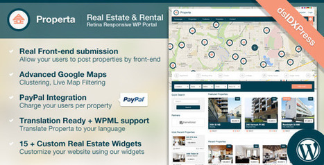 Properta - Real Estate WordPress Theme Download | ThemeForest | Art is cool | Scoop.it