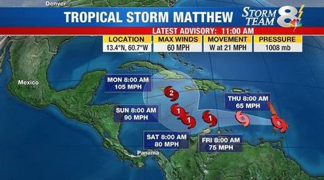 Breaking news on Tropical Storm Matthew (2016) | LibertyE Global Renaissance | Scoop.it
