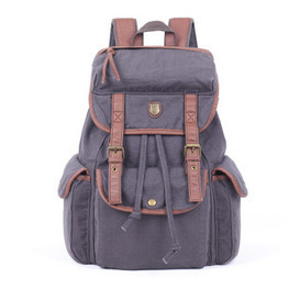 Gray canvas backpacks for womens  from Vintage rugged canvas bags | personalized canvas messenger bags and backpack | Scoop.it