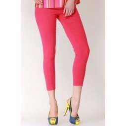 Cool Pink Stretch Jeggings   Online shopping for women   Scoop.it