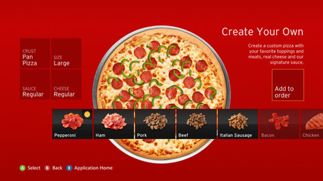 Pizza Hut sold $1 million in pizzas through Xbox 360 in four months | Gaming Business | Scoop.it