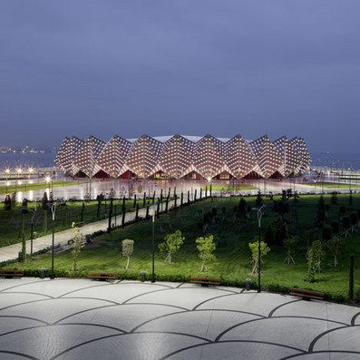 Baku Crystal Hall stadium in Azerbaijan by GMP Architekten | What Surrounds You | Scoop.it