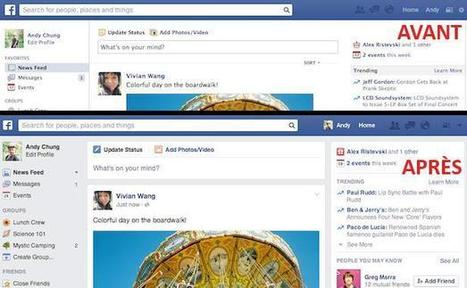 Facebook dévoile une nouvelle interface | Seniors | Scoop.it