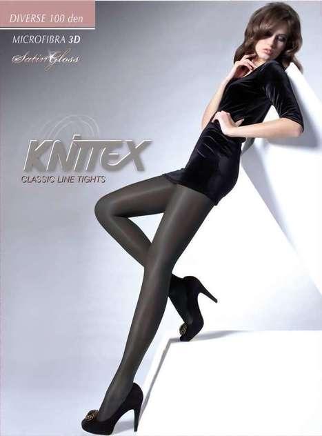 Ondoorzichtige glanzende panty Diverse 100 DEN van Knittex grey ,maat 2   pantys-boutique.nl   Pantys Kousen   Scoop.it
