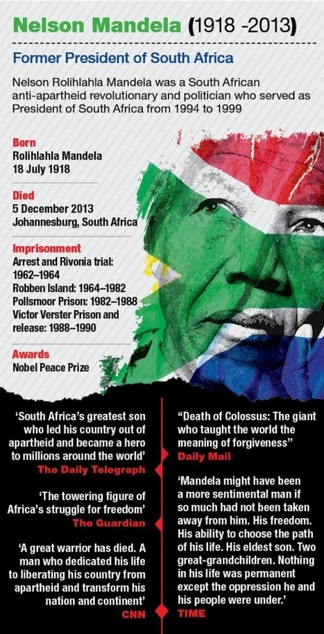 Infographics On Nelson Mandela | Larry Ferlazzo's Websites of the Day… | Data Visualization | Scoop.it