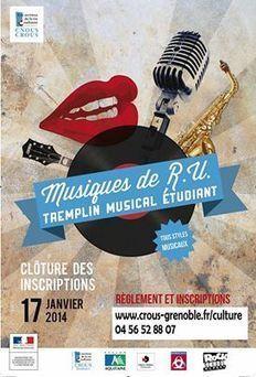 Tremplin Musique de R.U : Appel à candidatures | Facebook | GRECOOL : Grenoble is cool | Scoop.it