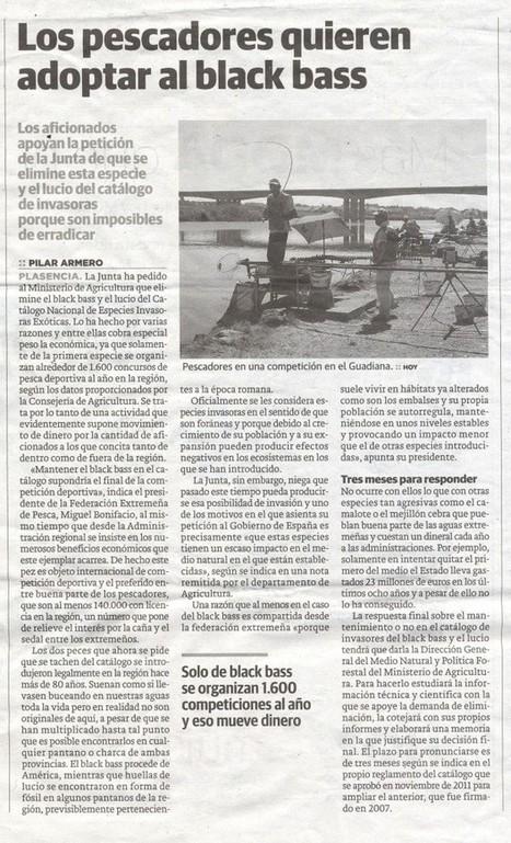 Extremadura pide excluir el lucio y el black-bass como especies invasoras | Normark | 4ºB Plagas y especies invasoras en Extremadura | Scoop.it
