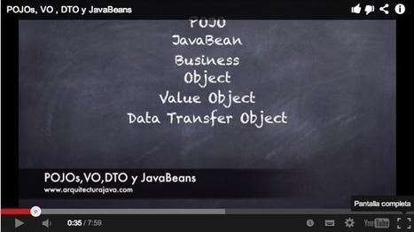 POJOs, VO, DTO y JavaBeans (Video) - Arquitectura Java | Desarrollo WEB | Scoop.it
