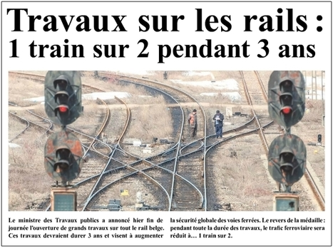 """1 train sur 2 pendant 3 ans"": une campagne publicitaire ! 