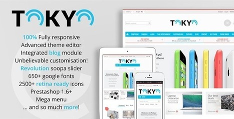 Tokyo - Responsive Prestashop Theme With Blog 1.6 (Technology) | PrestaShop Development | Scoop.it