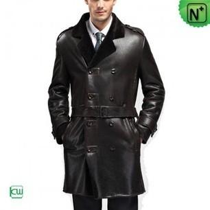 Mens Sheepskin Trench Coat CW868905 | Men's | Scoop.it