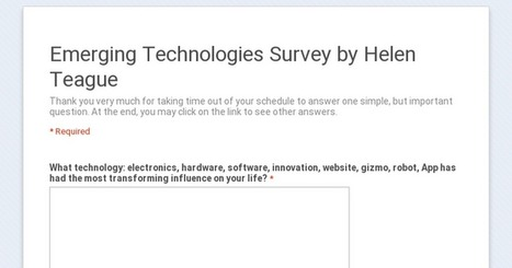 Emerging Tech Survey by Helen Teague | Inquiry-Based Learning and Research | Scoop.it