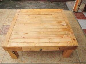 Table basse bois de palettes diy diy palettes - Table bois de palette ...