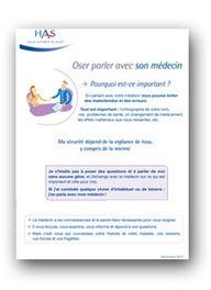 """La Haute Autorité de Santé édite la brochure """"Oser parler avec son médecin""""   Actualité de l'assurance santé   Scoop.it"""