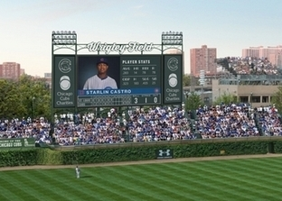 Cubs unveil Wrigley Field jumbotron, plaza | Real Estate Plus+ Daily News | Scoop.it