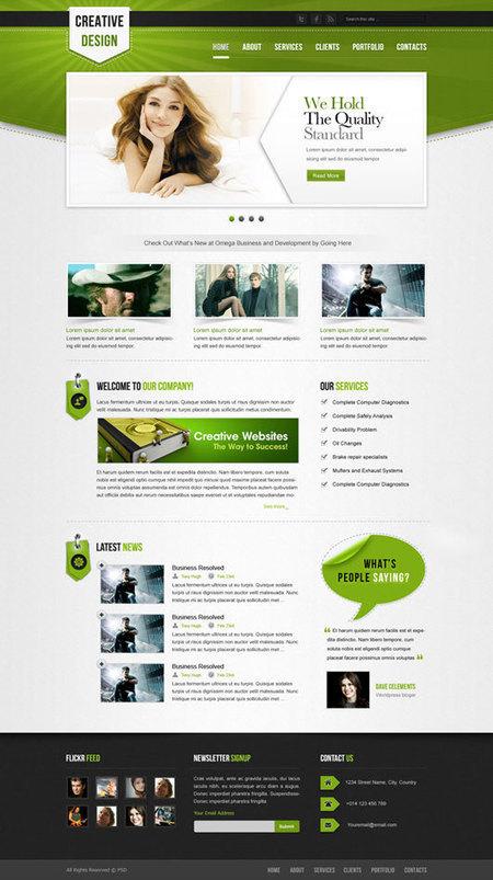 Showcase of 20+ free PSD Website Templates of 2014   PSDtoHTMLHINT   TechPilesGEO   Scoop.it