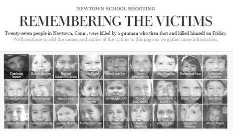 NEWTOWN SCHOOL SHOOTING Remembering the victims... - leblog24 | le blog de krimou | Scoop.it