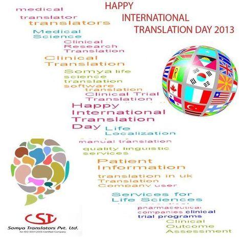 Happy Translation Day 2013   Somya LifeSciences   Scoop.it