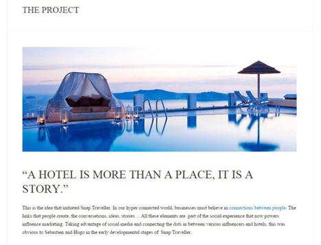 Snap Traveller, la plateforme qui connecte les hôteliers aux blogueurs | Veille Hébergements | Scoop.it