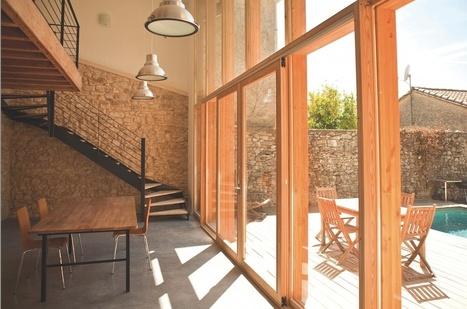 Une extension pleine de cachet grâce à des menuiseries en bois | Conseil construction de maison | Scoop.it