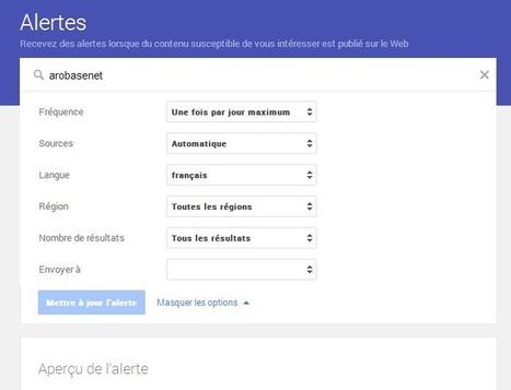 Google Alertes affiche un nouveau look plus interactif - #Arobasenet | digitalcuration | Scoop.it