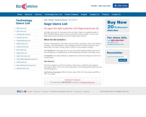 Get Customized Sage Users List from Bizcontrive | Bizcontrive | Scoop.it