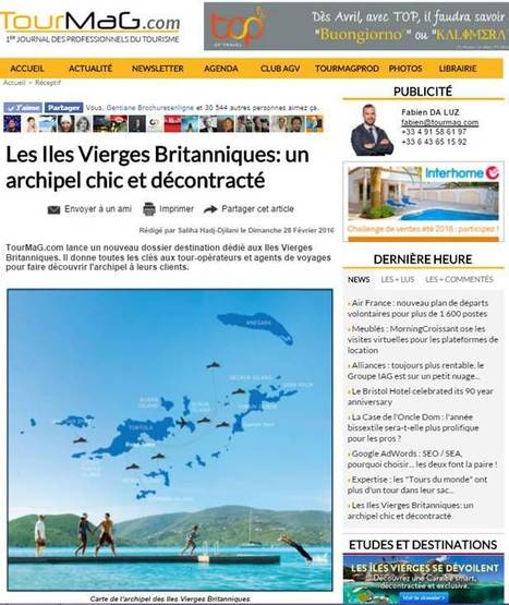 Destination Iles Vierges Britanniques | Attractivity Marketing & PR for Places & the Travel Industry | Scoop.it