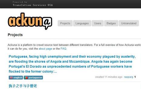 Ackuna Translator - Projects | 咫 @ 下一站 | Scoop.it